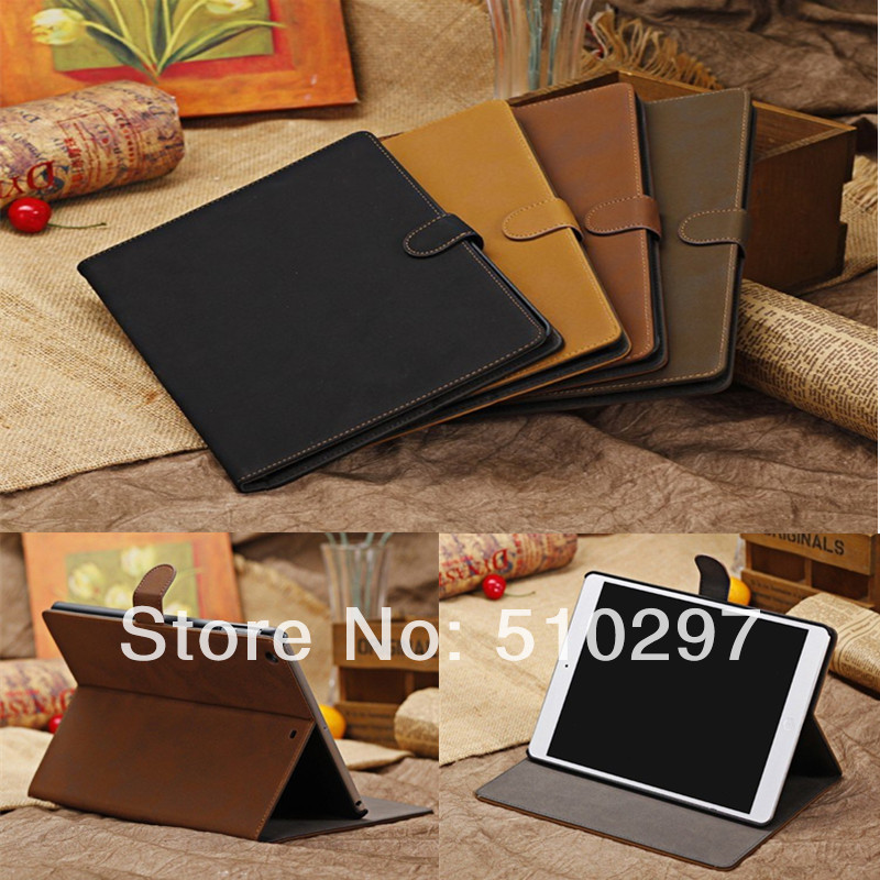 Luxury Retro PU Leather+Plastic Shell Smart Case Stand Business Cover for Apple ipad Air ipad 5 5th Air 1 Tablet PC Magnet luxury noble business shockproof flip stand cover vintage pu leather case for ipad air ipad 5 smart shell sleep