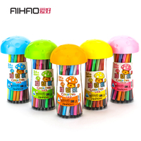 Aihao Brand New Arrival Colorful Pens Washable Korean Stationery For School Kids Prize High Quality Free
