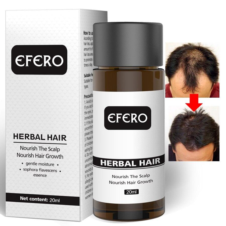 20ML EFERO Hair Growth Essence Beard Oil Essential Hair Beard Growth Serum Hair Loss Produ