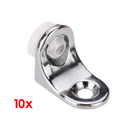 SOSW-10pcs Glass Shelf Right Angle Fixing Clip Bracket With Suction Cup