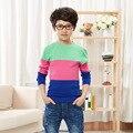 4-12 Anos Meninos Roupas Blusas Marca de Moda Pullover Camisola de lã Do Bebê das Crianças de Manga Longa crianças camisolas Dos Miúdos roupas