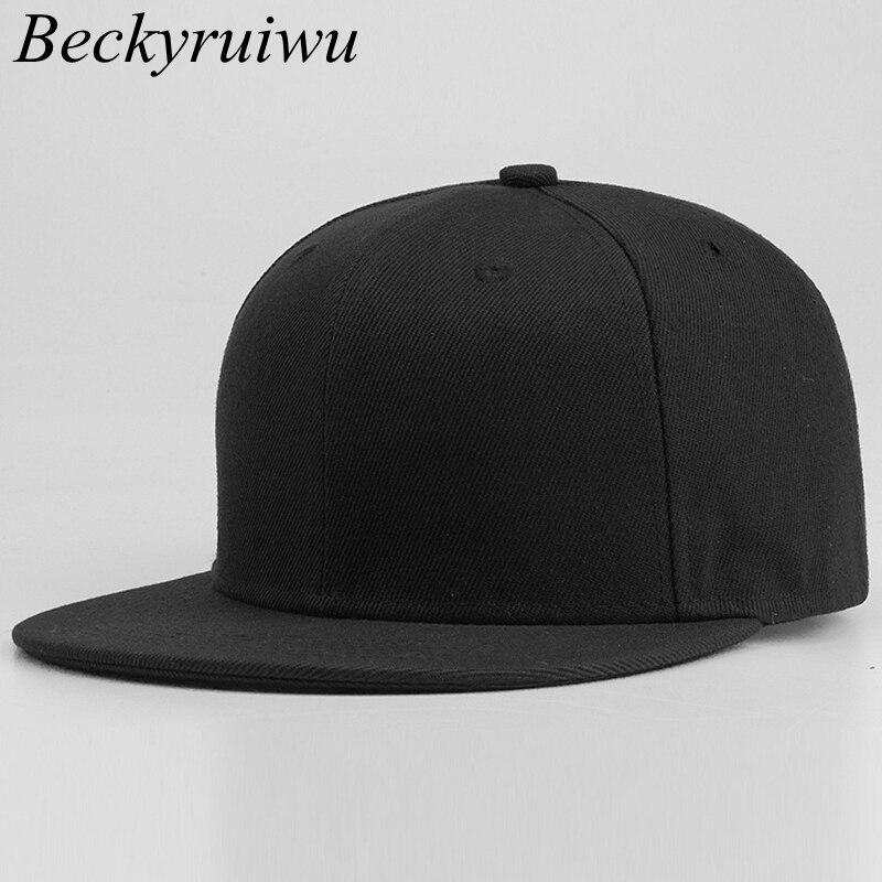 1334a2dfc US $7.82 51% OFF 58cm 59cm 60cm Plus Size Snapback Caps Men Top Quality  Pure Cotton Hip Hop Cap Adult Solid Color Baseball Hats-in Men's Baseball  Caps ...