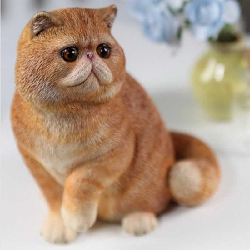 Mnotht 1 6 Garfield Carved Model Lifelike Cute Cat Pet Model Simulation Animal Model For 12in Action Figure Soldier Scene Toy Animal Model Animes Actionfigure Animals Aliexpress