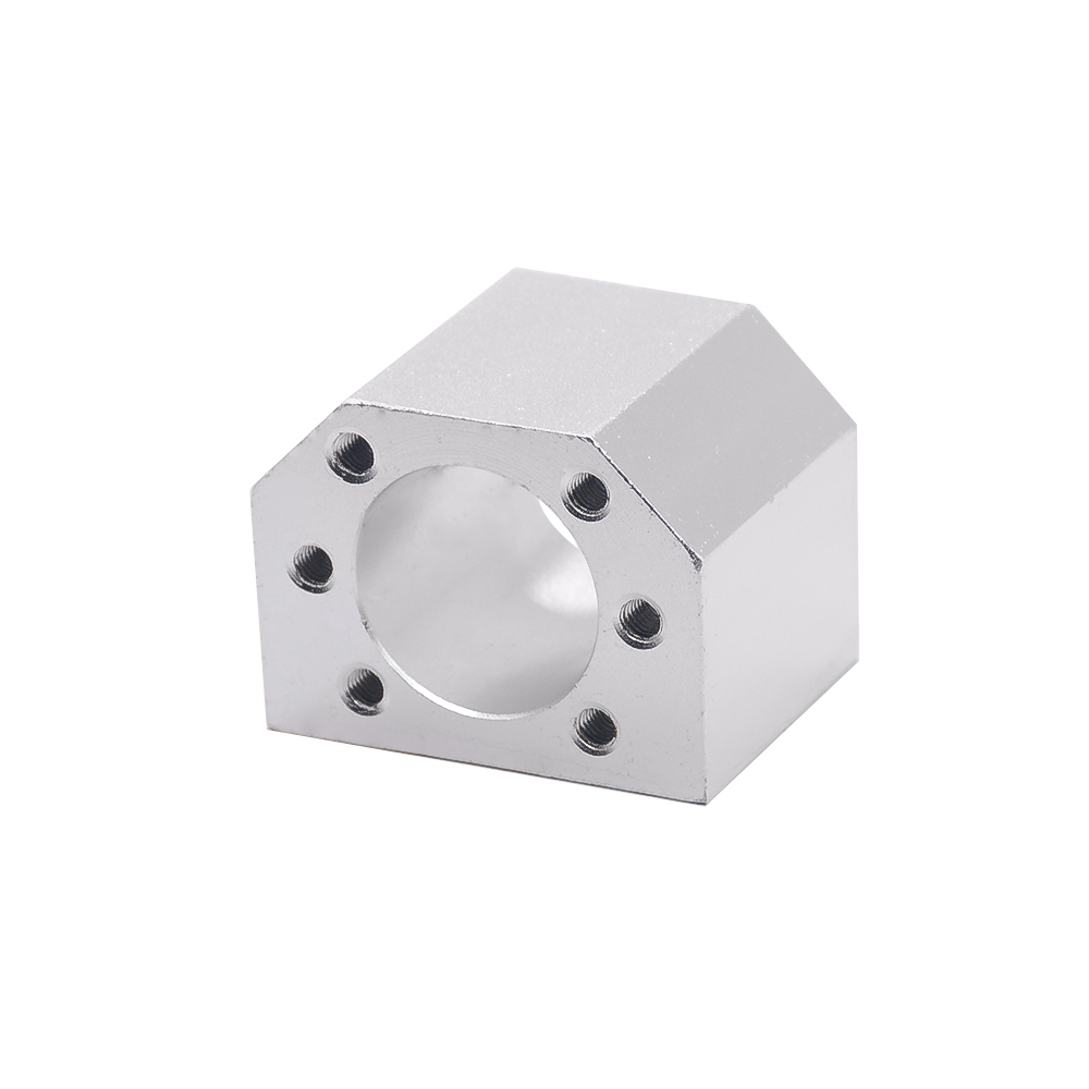 aluminium alloy <font><b>ballscrew</b></font> <font><b>nut</b></font> housing bracket holder fit for SFU1605 SFU1610 ball screw SFU1204 for 3D printer cnc parts image