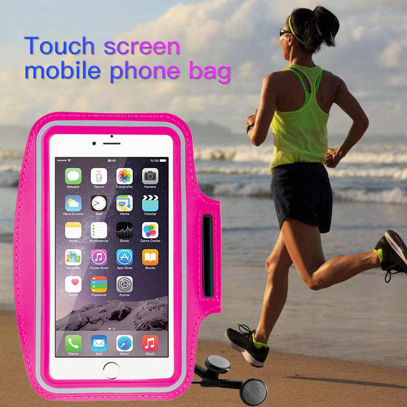 Waterproof Sports Running Armband 4.0-6.5 inch Mobile Phone Wristband Case for iPhone Samsung Xiaomi Huawei Arm Band Phone Bag