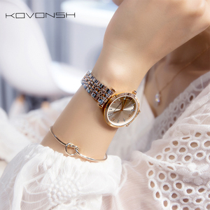 Image 5 - KOVONSH Women Watch Watches Ladies Watch Womans Female Watch Stainless Steel Dress Wrist Watches Silver Gold Gift Dropshipping
