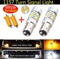2X 1157 BAY15D 5730 20SMD LED Bulbs Dual Switchback Turn Signal Blinker Lights Tail Brake Backup + 2Pcs Load Resistor