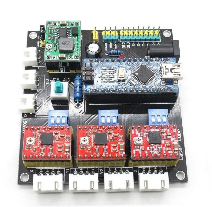 GRBL Laser Controller Board 3-Axis Stepper Motor USB Driver Board  LCD Screen