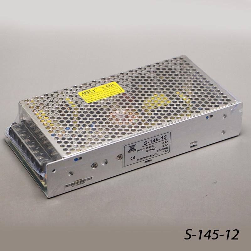 купить S-145-12 145W 12V 12A LED Light Devices Switching Power Supply AC-DC PSU 100/110/220/230V онлайн