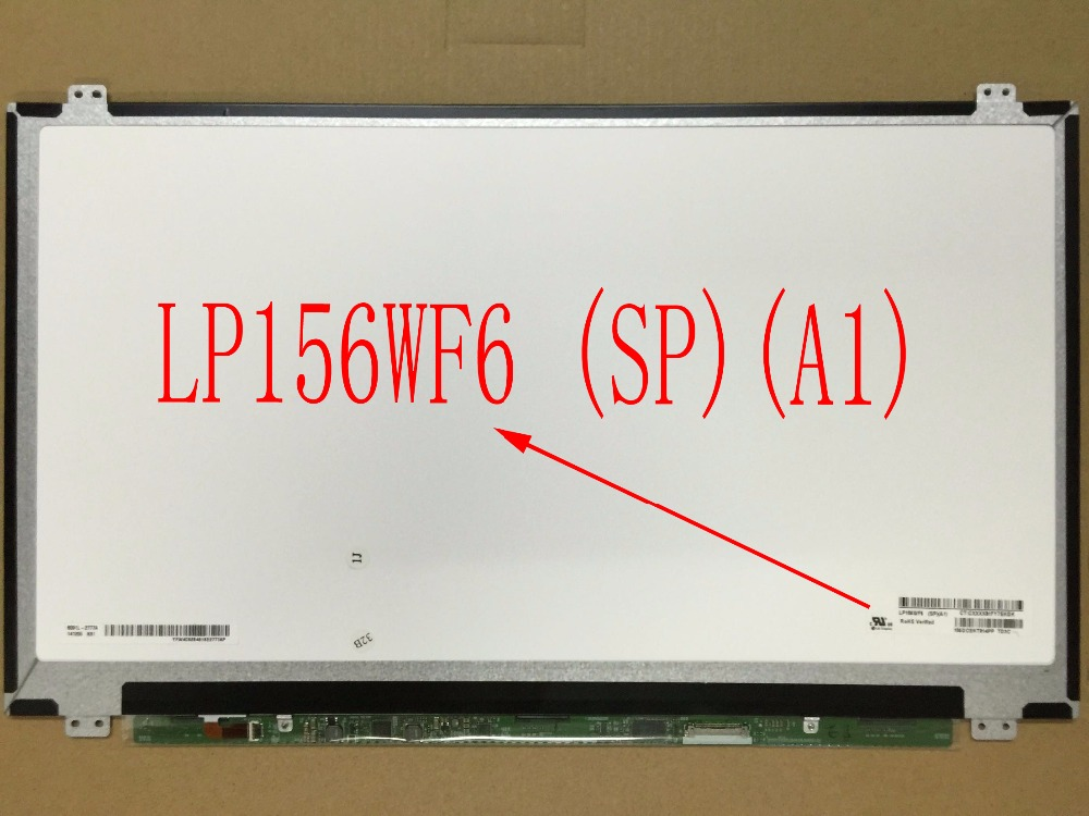 For Toshiba Satellite P55W P55W-C5200 LCD LED Screen LP156WF6 SPA1 LP156WF6 (SP)(A1) LP156WF6-SPA1 Original New