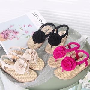 Baby Girls Cute Slippers Big floral Flat Heel Lightweight Princess Slippers for Outdoor Girls Sandals Garden Slippers Drag Baby