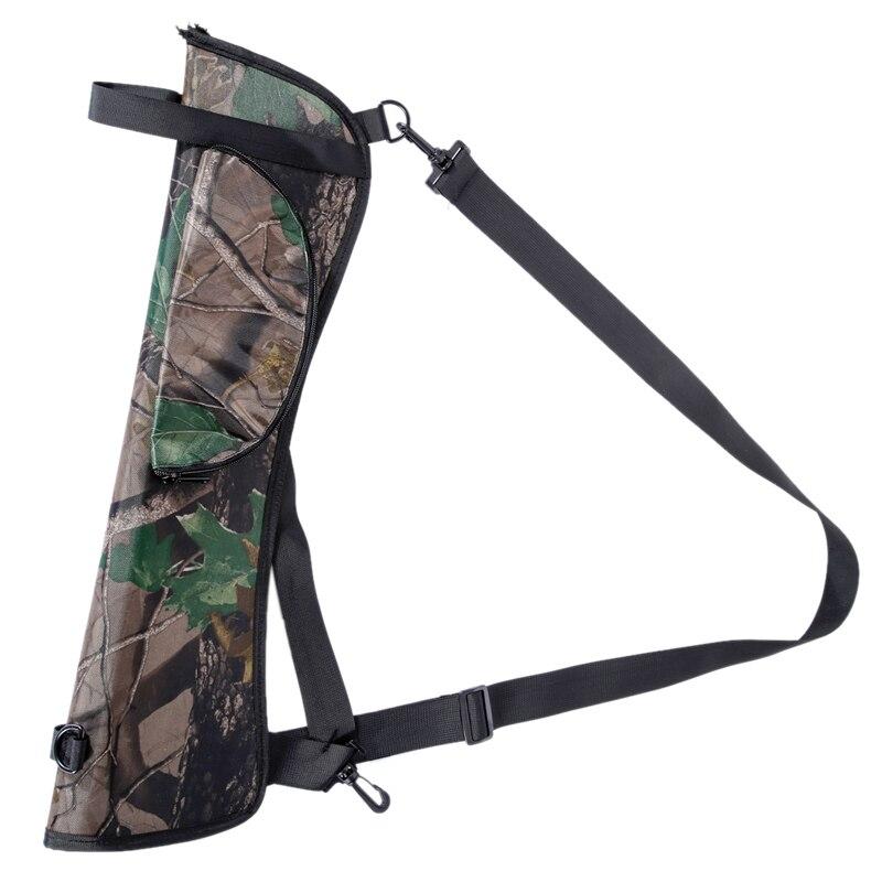 1PCS Target Hunting Arrow Quiver bag Camouflage Archery Quiver Back Hip Waist Bag Arrow Bow Holder Pouch 58*17cm /400g