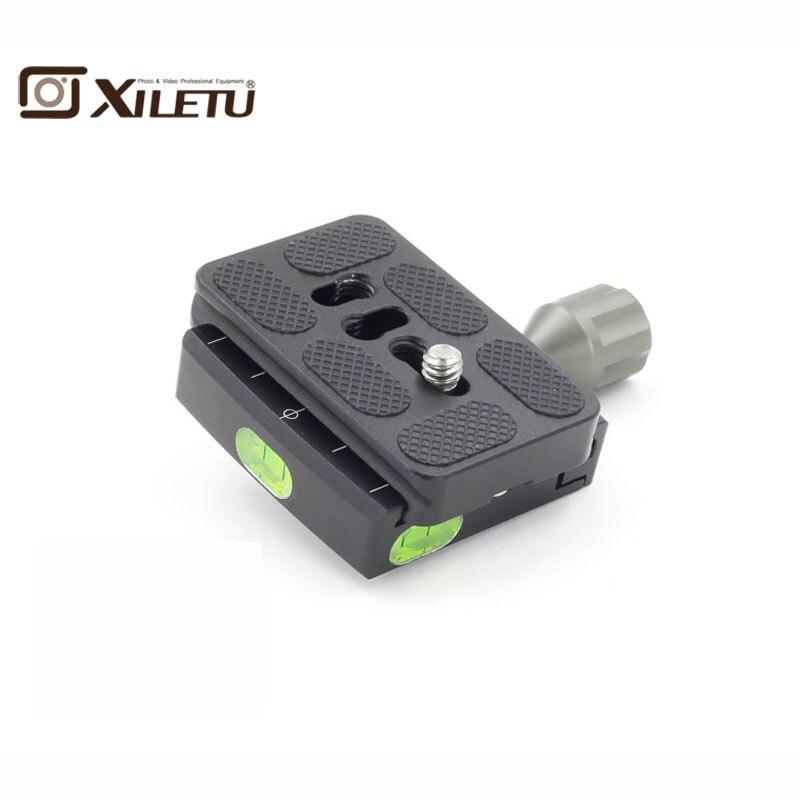 XILETU QR-50 Caméra Trépied De Serrage Pince + PU-50 Plateau Rapide 1/4 -3/8 pouces Vis Pour Arca Suisse manfrotto Gitzo RRS