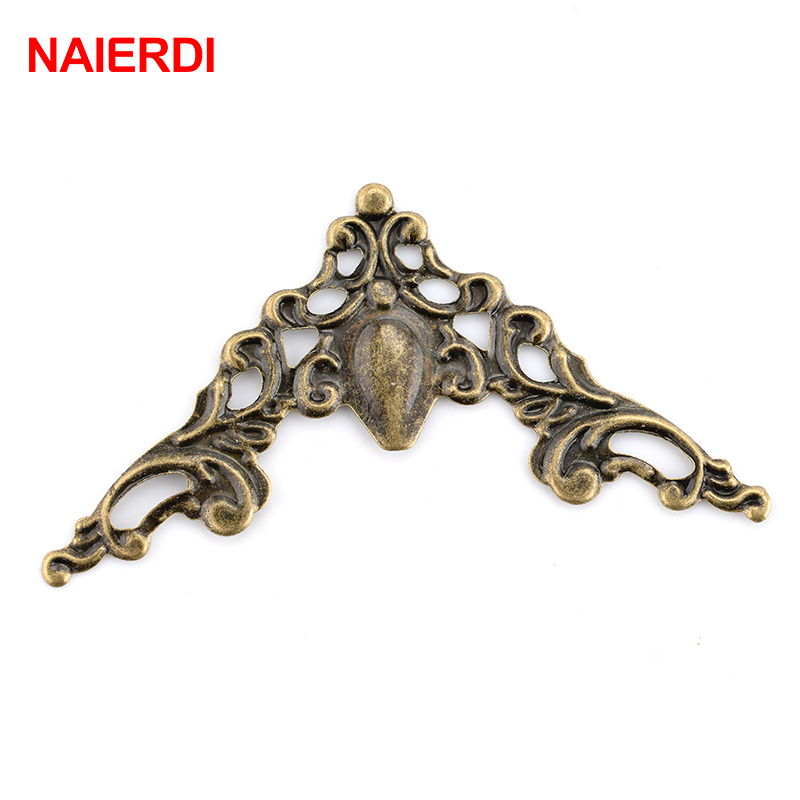 30PCS NAIERDI Box Corner Brackets 40mm Antique Decorative Protector For Notebook Cover For Menus Photo Frame Furniture Hardware ...