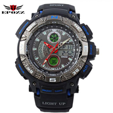 2016 deportes relojes hombres marca de lujo s choque 50 M impermeable led reloj digital s-shock electrónica relogio masculino
