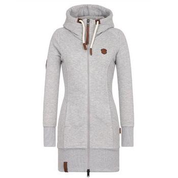 e9ce0506371 Women Hoodie Sweatshirt Zipper hooded long coat plus size 5XL Winter Autumn  warm lady office young girl school cheap