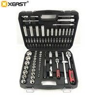 Xeast 94 pc 소켓 세트 자동차 수리 도구 래칫 세트 토크 렌치 조합 비트 키 세트 크롬 바나듐|비틀다|도구 -