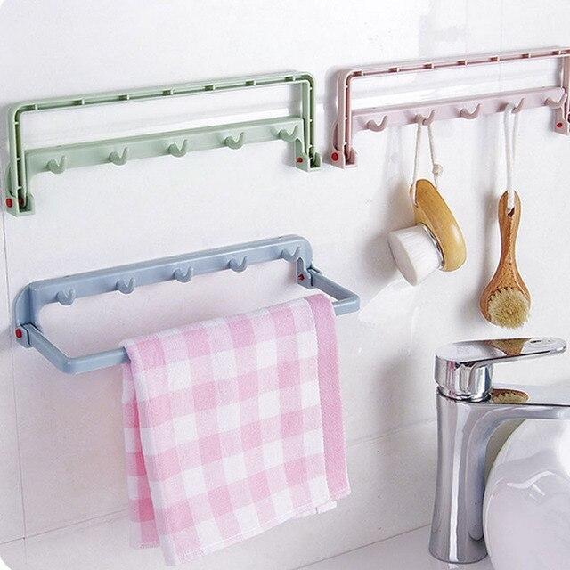Falten Lagerung Rack Waschen Tuch Organizer Kunststoff Küche Handtuch Rack  Schwamm Halter Schrank Schrank Racks Badezimmer