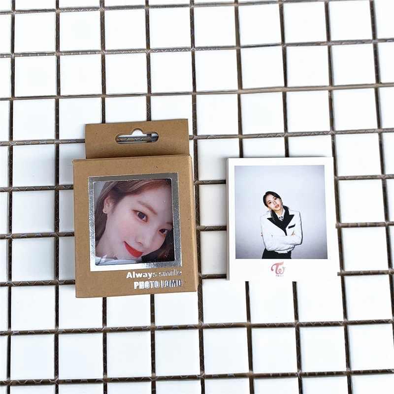 40 Cái/bộ Kpop Hai Lần Lomo Ảnh Thẻ Nhựa PVC Thẻ Tự Làm Thẻ Photocard