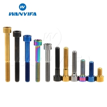 Wanyifa M6x10 15 16 18 20 25 30 35 40 45 50 55 60mm DIN912 Stigma Titanium Bolt Screw for Bicycle V Brake