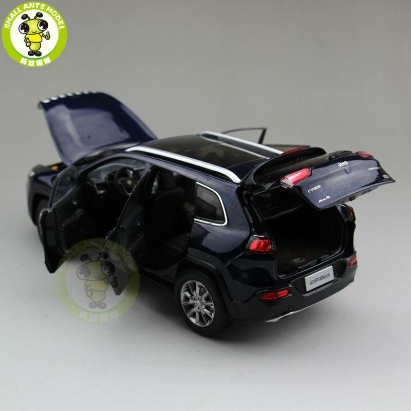 1/18 Jeep cheroki Diecast Metal coche Suv modelo colección regalo Color azul-in Troquelado y vehículos de juguete from Juguetes y pasatiempos    3