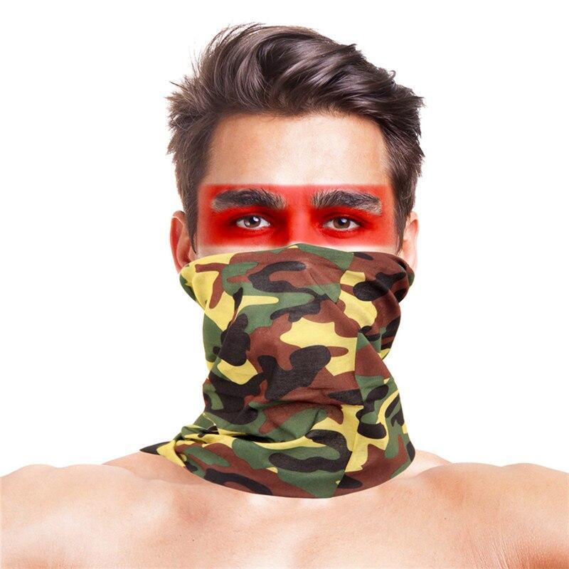 Камуфляжный шарф с высоким прыжком, бандана для мужчин и женщин, маска для лица, тактическая, для улицы, волшебный головной убор, для кемпинга, пешего туризма, шейный шарф - Цвет: 007