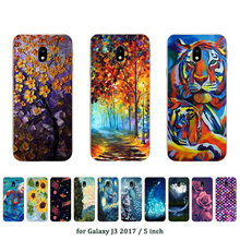 "For Samsung J3 2017 J3(7) Soft Silicone Phone Case Oill Printed Cover For Galaxy J3 2017 J330F SM-J330F DS 5.0"" Case(China)"