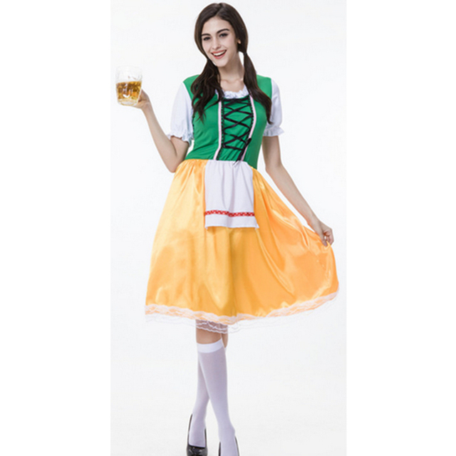 2017 womens oktoberfest cospaly costume halloween costume naughty tavern girl fancy dress beer festival clothing m - Naughty Girl Halloween Costumes