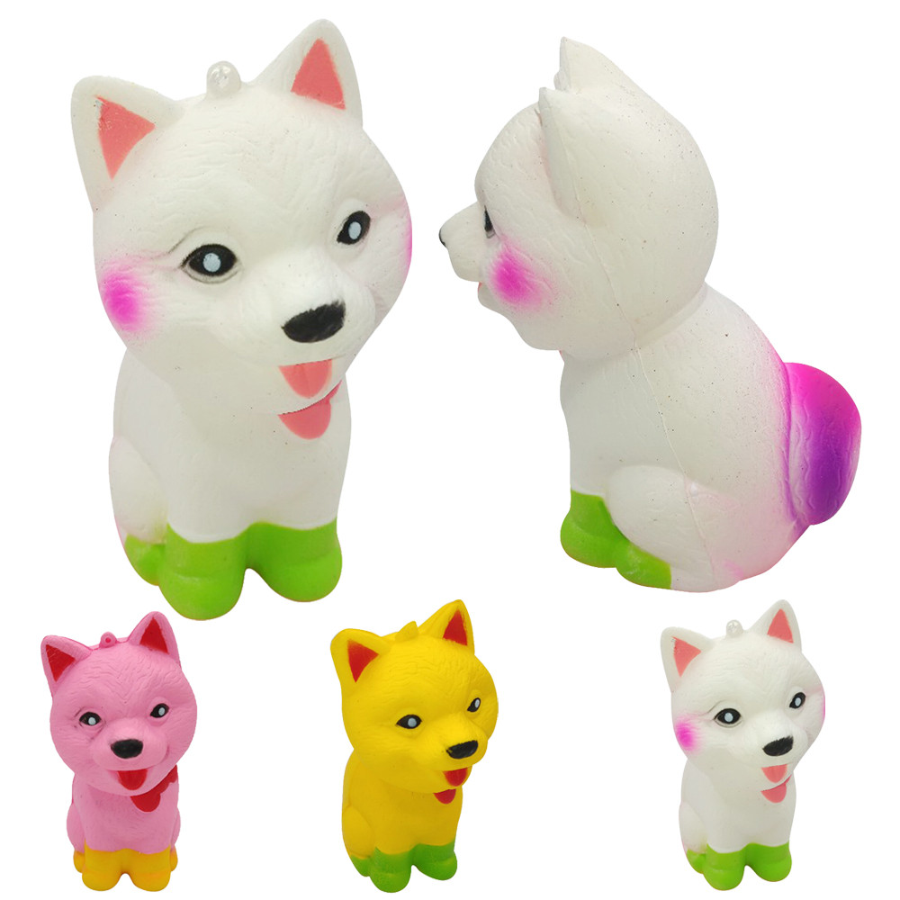 Soft Squishy Squishi Dog Toy Stress Reliever Decompression Pomeranian Squishy Cute Dog Super Slow Rising Scented Fun Animal Toys