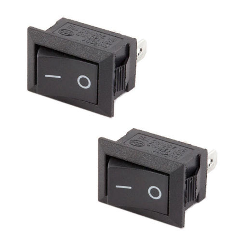 5Pcs//Lot 3 Pins 12V 16A Red Dot Rocker SPST Switch Toggle Car Interior Switch