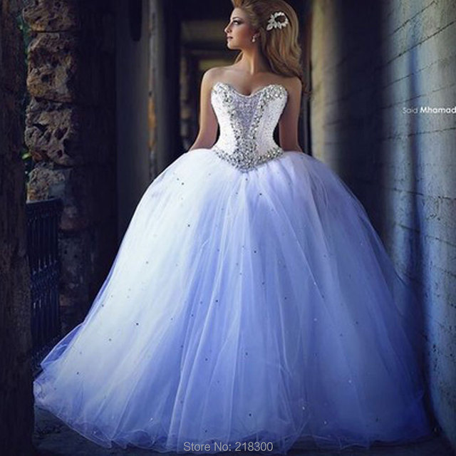 Aliexpress.com : Buy Sweetheart Crystal Ball Gown Wedding Dresses ...