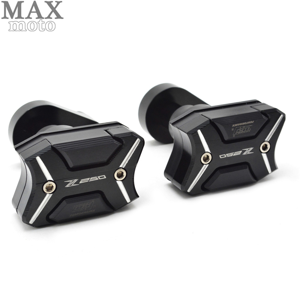 Motorcycle Frame Sliders Crash Engine Guard Pad Aluminium Side Shield Protector For Kawasaki Z250 2011 2012 2013 2014 2015 motorcycle frame sliders crash engine guard pad aluminium side shield protector for kawasaki ninja zx6r 636 2009 2010 2011 2012