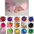 15 colores Recién Nacido accesorios de Fotografía de Estudio Props Cesta De Relleno de Punto Tejido A Mano Gorros Baby Shower Regalo ZQY020