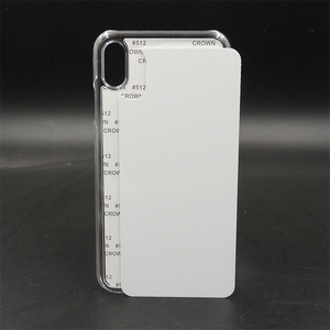 Image 2 - Customerized 2D Sublimation Blank Plastic Case Hard Cover For iPhone X Xs Xs max XR aluminium plate insert Heat Transfer 10pcs
