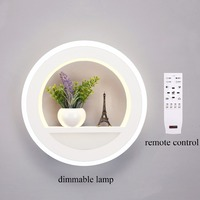29W Wall Lamp Dimmable Light With Flower Tower AC90 265V Segment 2 4G RF Remote Control