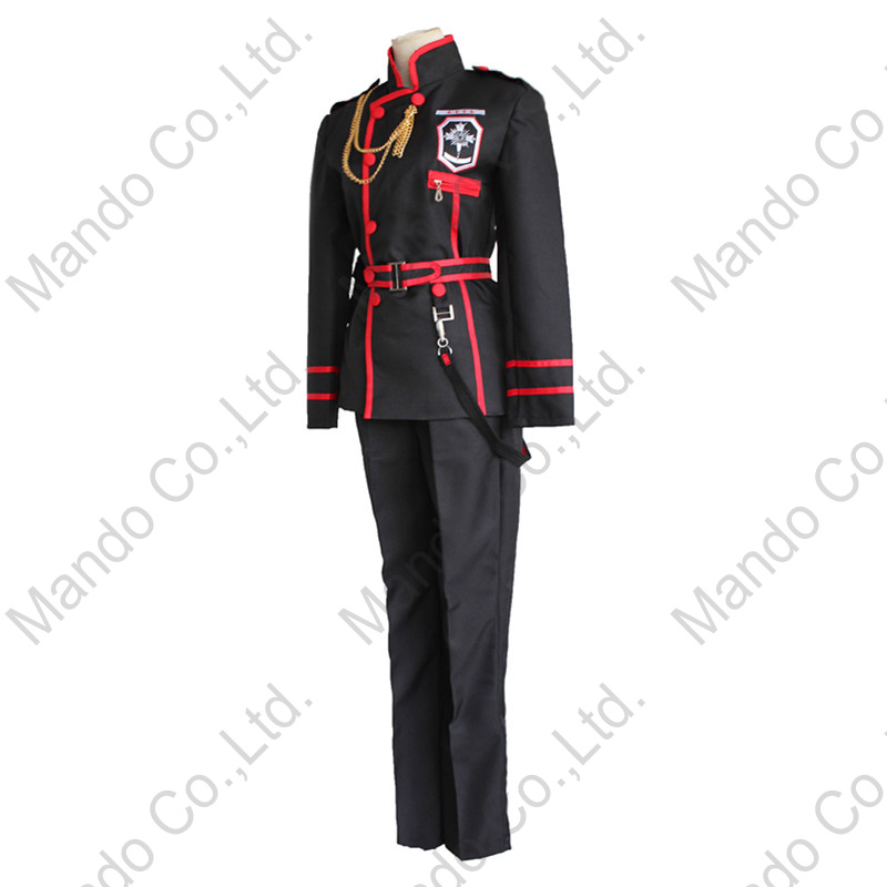 Anime D.Gray-man Allen Walker Cosplay Costumes Man uniform Suit - Costumes - Photo 2