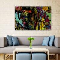 Światowej sławy obrazy malarstwo abstrakcyjne Kobieta gra na gitara Ręcznie malowane obraz olejny na płótnie Wall art picture