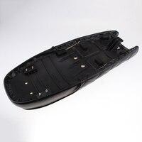 Black PU Leather Motorcycle Cafe Racer Seat Flat Saddle 63cm / 24.8 Long