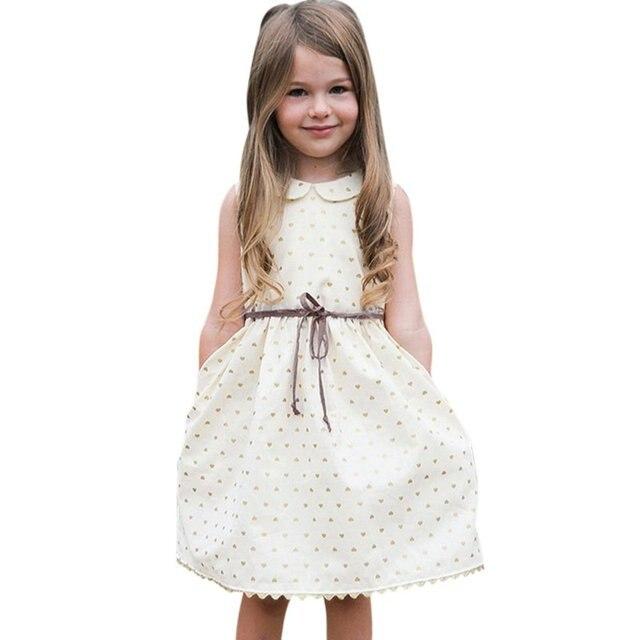שמלת פעוט בנות ילדי תינוק בנות שמלה ללא שרוולים חמוד נסיכת שמלות למסיבה