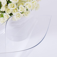 PVC Soft Glass Waterproof Anti Hot PVC Tablecloth Table Mat Table Mats Transparent Disposable Table Cloth Home Decoration