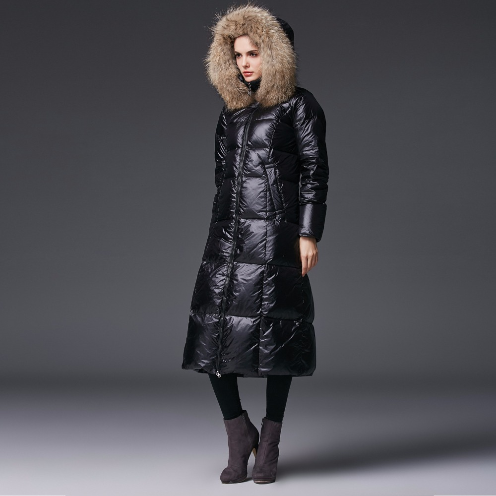 3e93c2f05f Real Raccoon Fur Hooded Jacket Winter Coat Cloak Light Ultra Womens Parkas  Puffer Plus Size Down ...