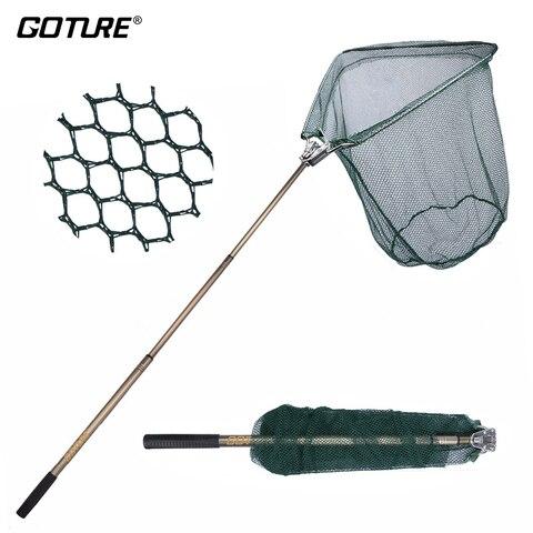 goture rede de aterragem de pesca 185cm 40x40cm pe mao triangular rede de alta resistencia