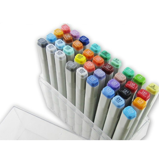 Art Supplies 48 Color Architecture Painting Pen Finecolour Sketch Marker Gift Artist Brushwork Stand Box