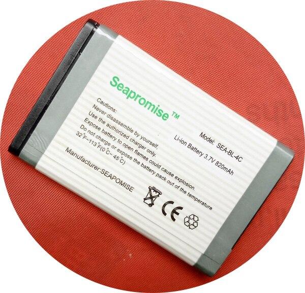BL-4C de batterie de téléphone portable au détail BL 4C BL4C pour Nokia 6100, 6101, 6102i, 6103,1100, 1101,1108, 110,1255, 1600 ..