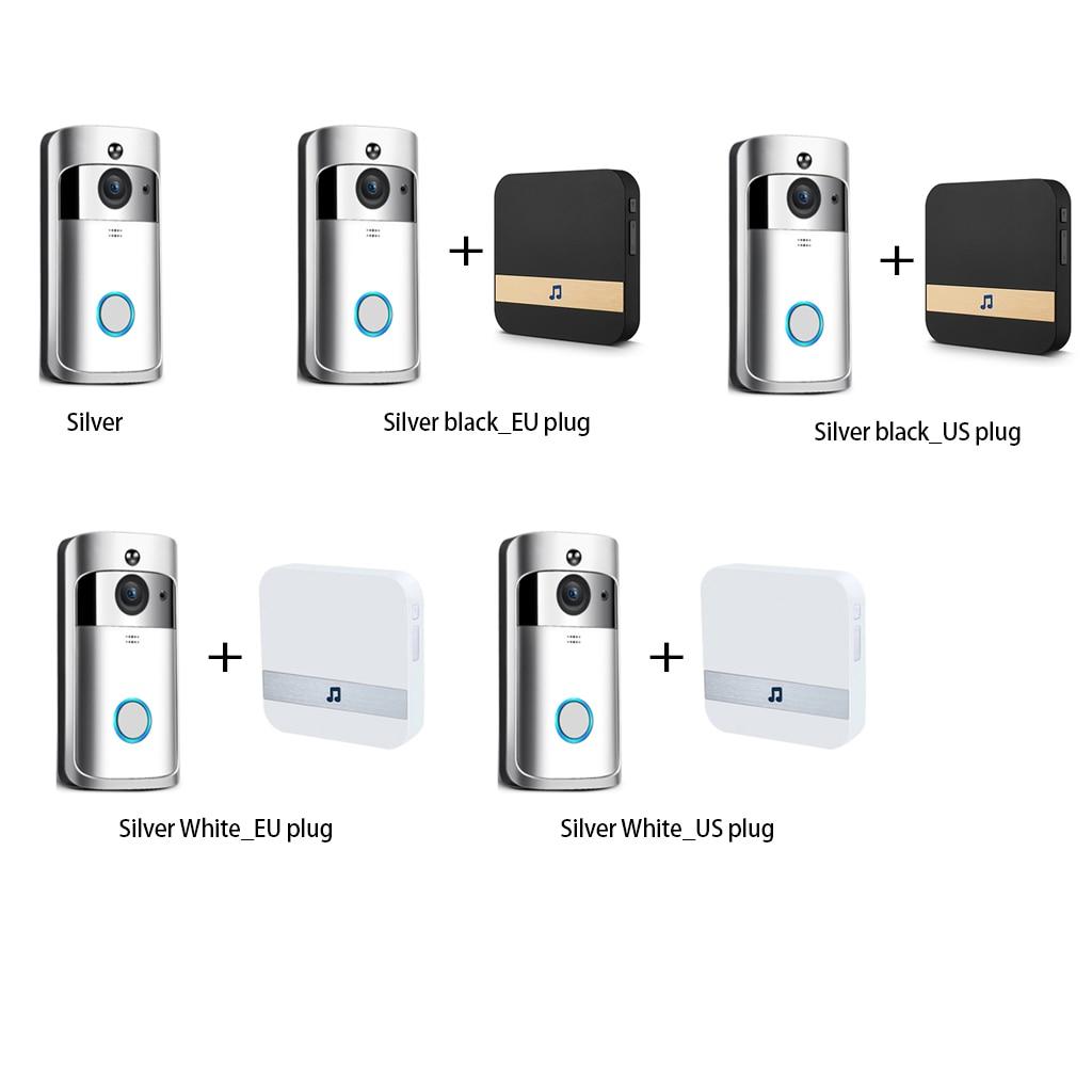 Sonnette sans fil appel téléphone intelligent porte cloche WIFI sonnette pour appartements étanche US EU prise batterie puissance porte cloche sans fil - 3