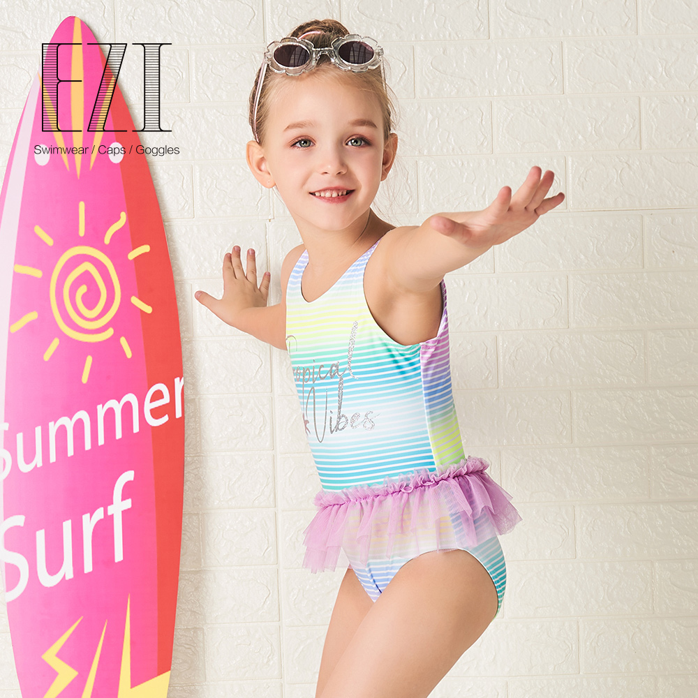 ONES Toddler Baby Girls Striped Two Piece Bikini Set 4th of July Party Bathing Suit