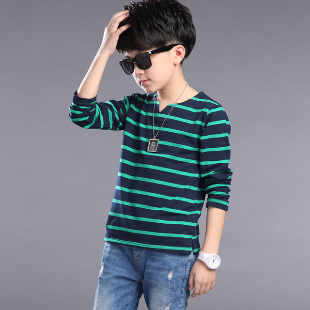 2017 Fashion Casual Children Clothing Kids Clothes Baby Boys T Shirt Full Sleeve Spring  Kids Tops Child Costumes 10 12 14 Years