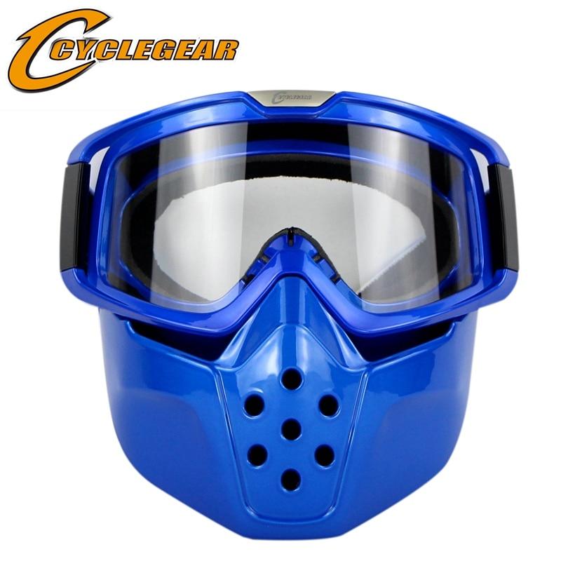 Lunettes de moto Cyclegear avec masque lunettes de cyclisme moto Gafas de Motocross CG04
