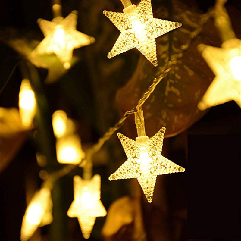 1M/3M/4M/6M LED Star Fairy Garland Flash Lights Novelty For New Year Christmas Wedding Home Indoor Decoration Battery Powered