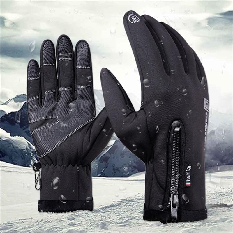 Thermal Skiing <font><b>Gloves</b></font> Winter Fleece <font><b>Waterproof</b></font> <font><b>Ski</b></font> <font><b>Gloves</b></font> Man Women <font><b>Motorcycle</b></font> Snow <font><b>Snowboard</b></font> Sportswear Audlt Kid Hand